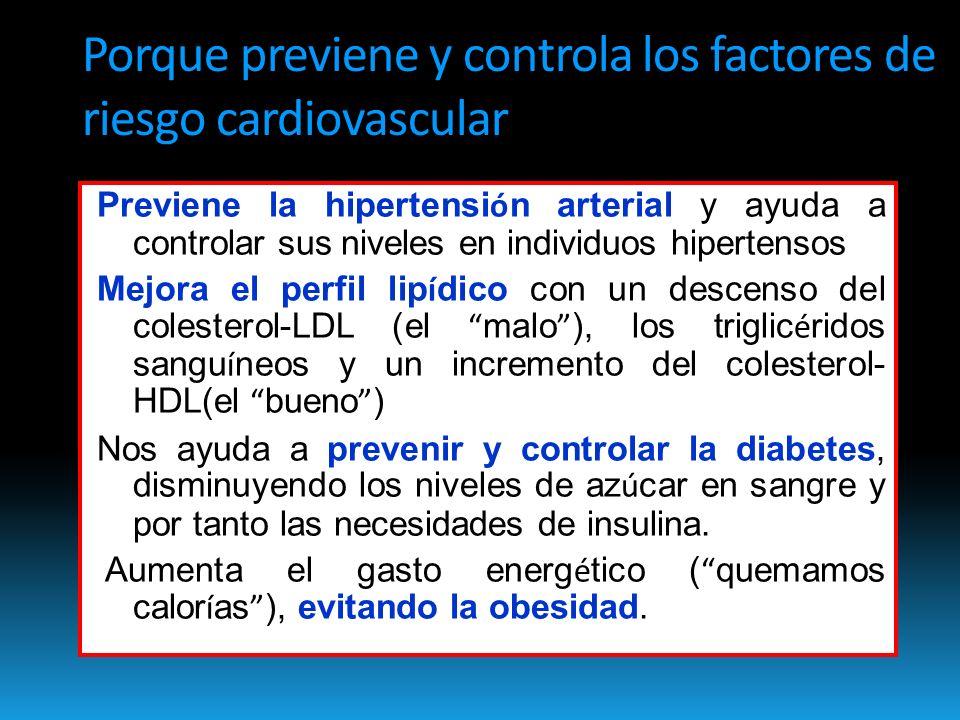 Porque previene y controla los factores de riesgo cardiovascular