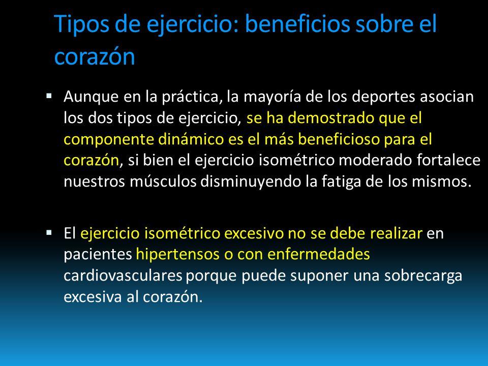 Tipos de ejercicio: beneficios sobre el corazón
