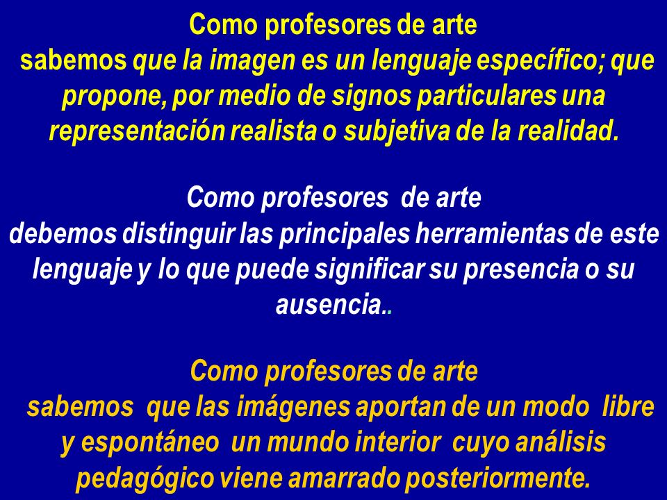 Como profesores de arte Como profesores de arte