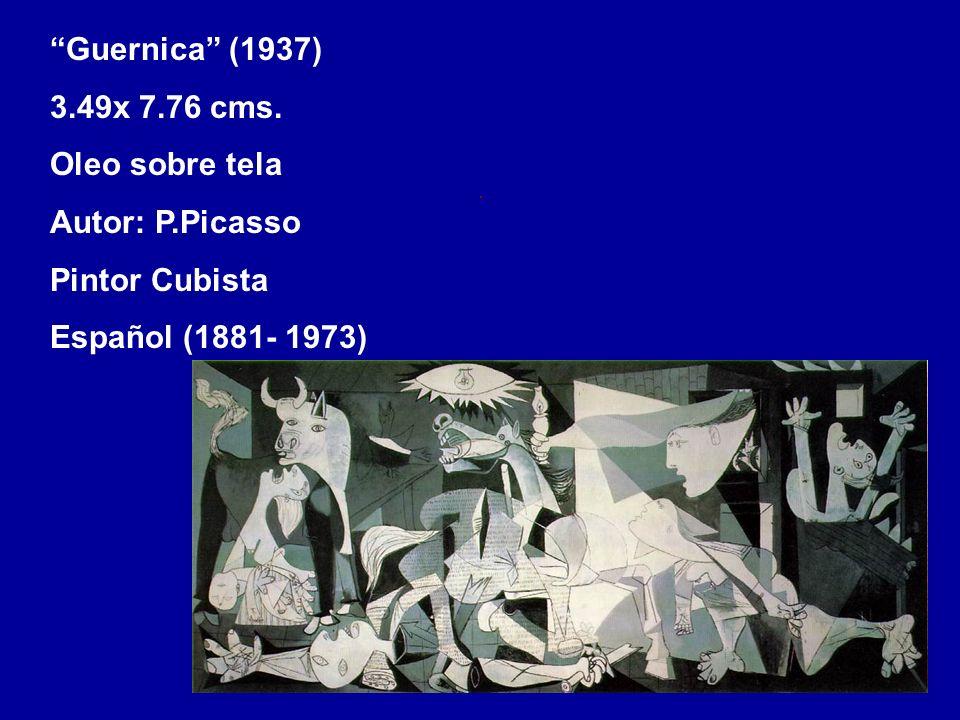Guernica (1937) 3.49x 7.76 cms. Oleo sobre tela.