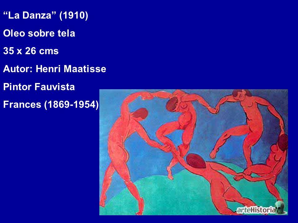 La Danza (1910) Oleo sobre tela. 35 x 26 cms. Autor: Henri Maatisse.