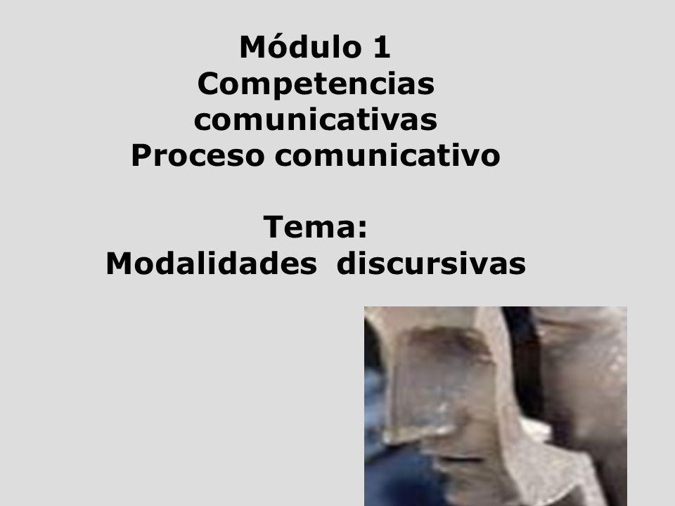 Competencias comunicativas Modalidades discursivas