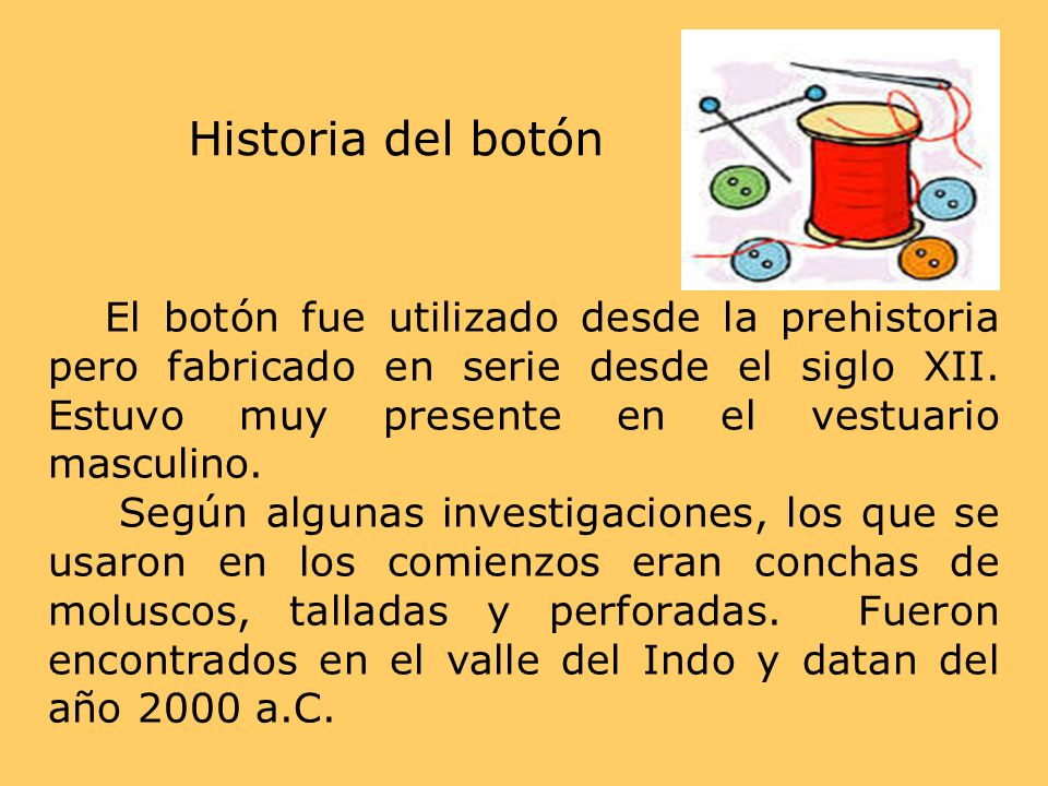 Historia del botón
