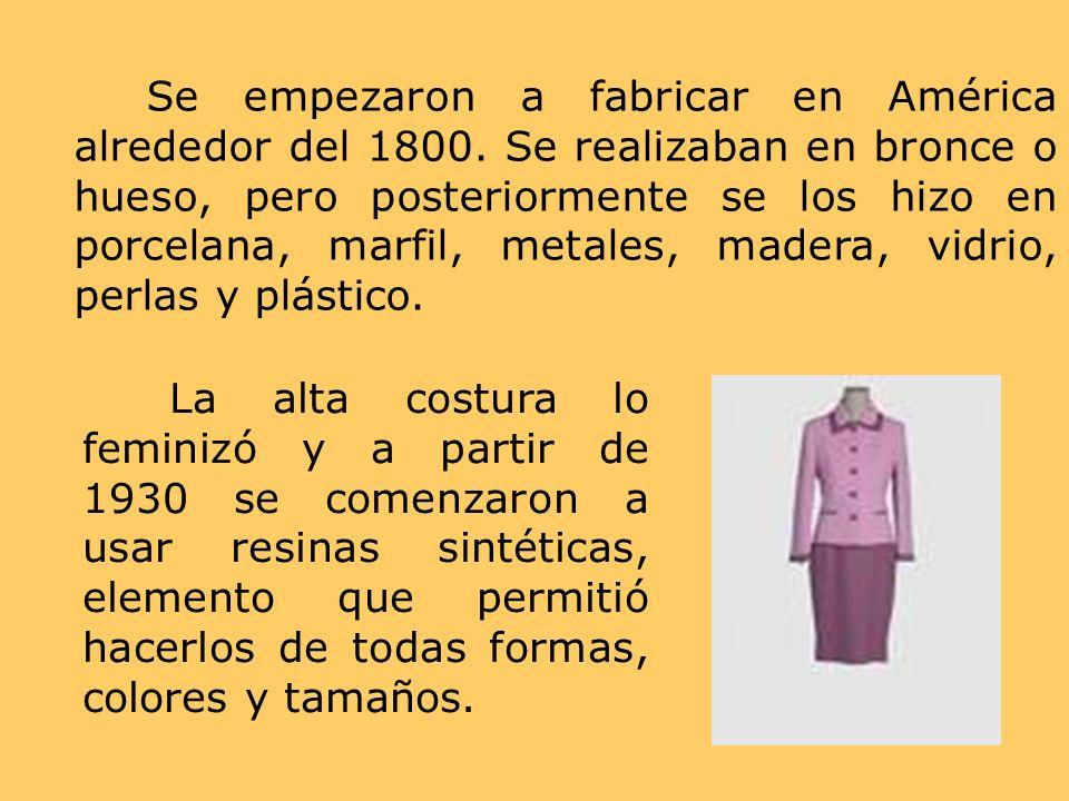 Se empezaron a fabricar en América alrededor del 1800