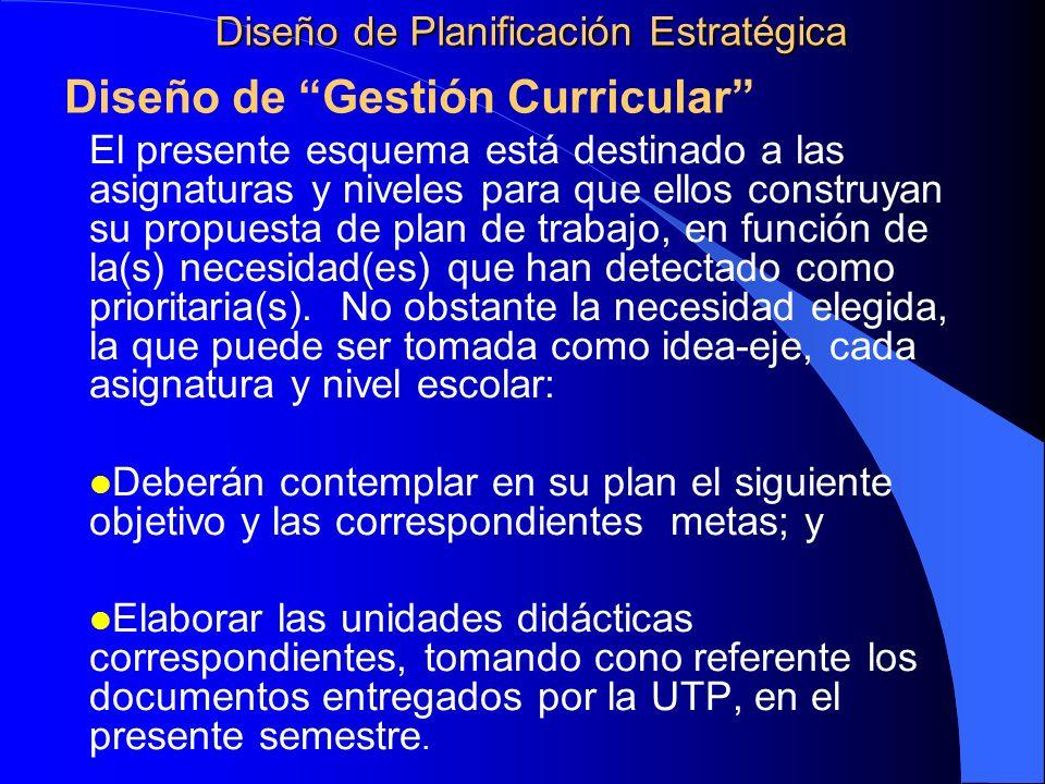 Diseño de Planificación Estratégica