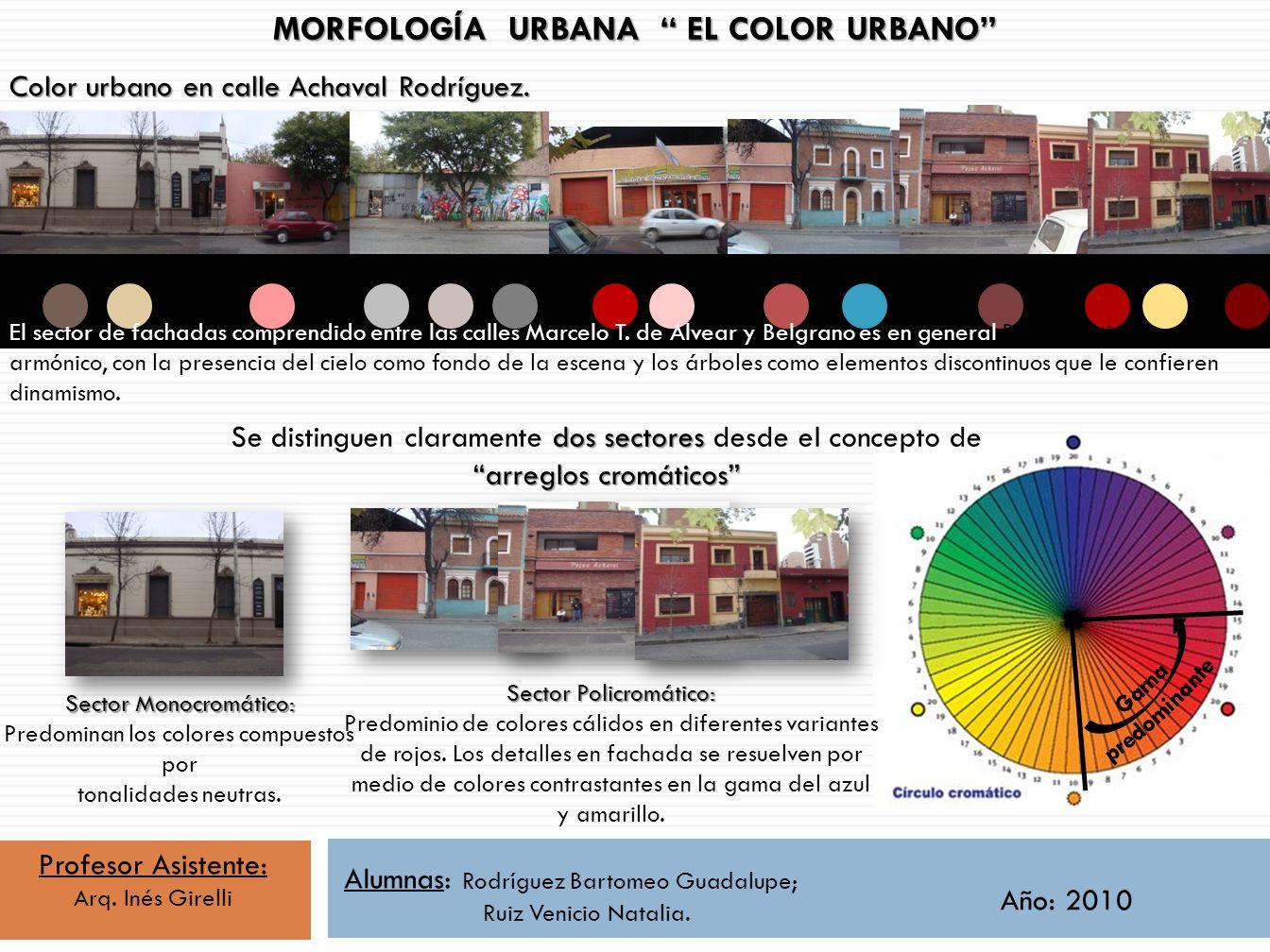 MORFOLOGÍA URBANA EL COLOR URBANO