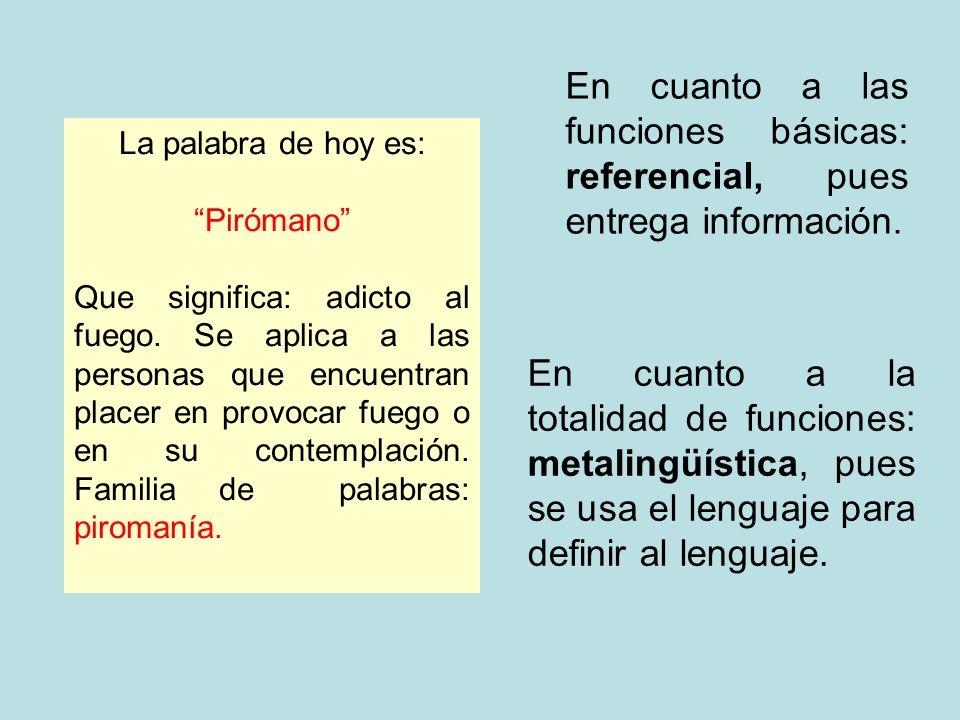 En cuanto a las funciones básicas: referencial, pues entrega información.