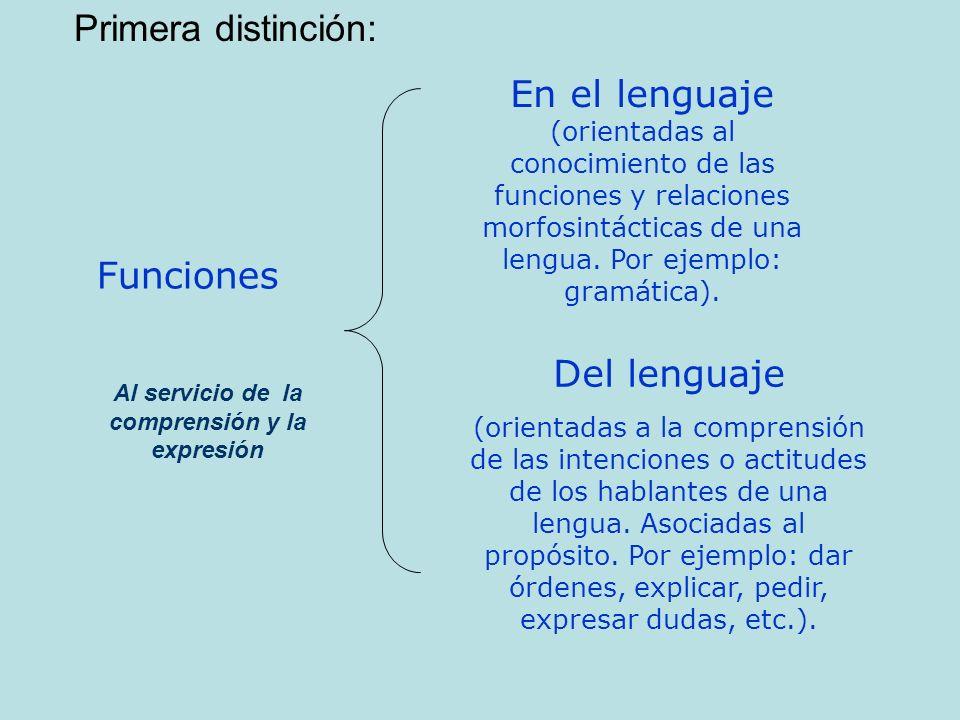 Al servicio de la comprensión y la expresión