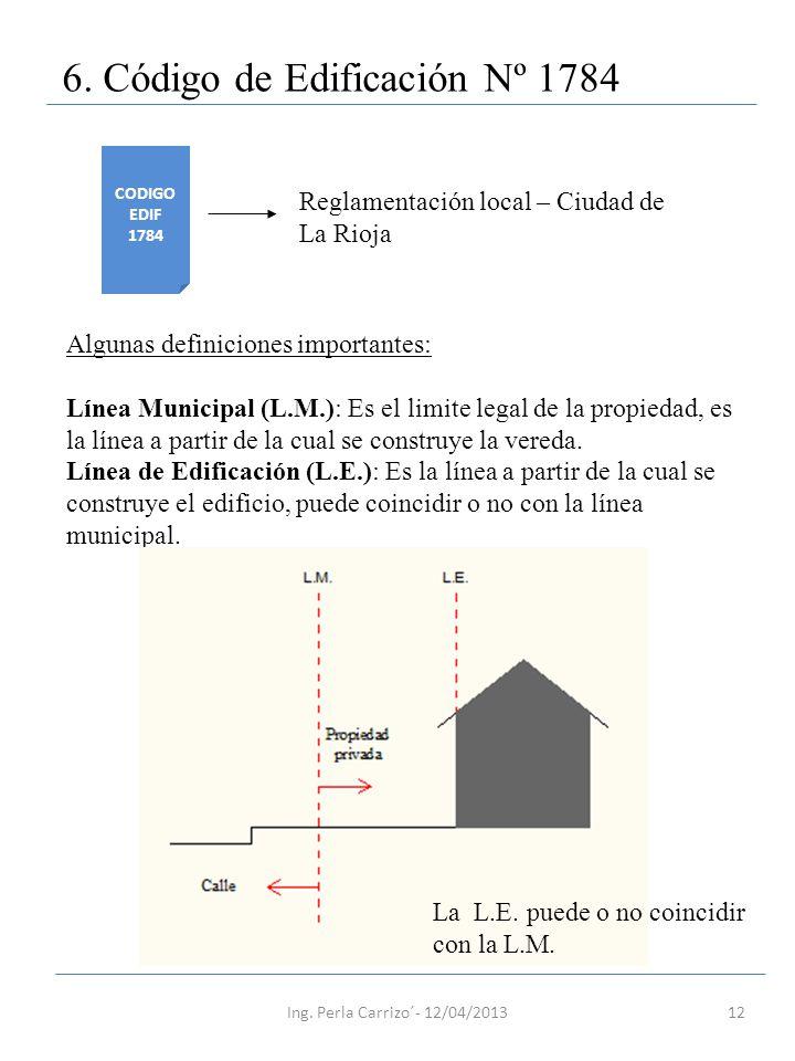 6. Código de Edificación Nº 1784