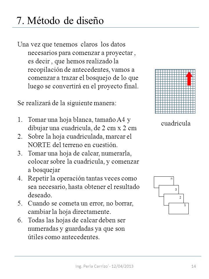 7. Método de diseño