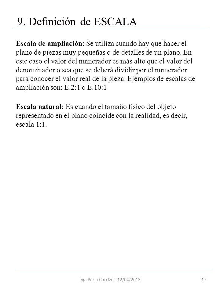 9. Definición de ESCALA