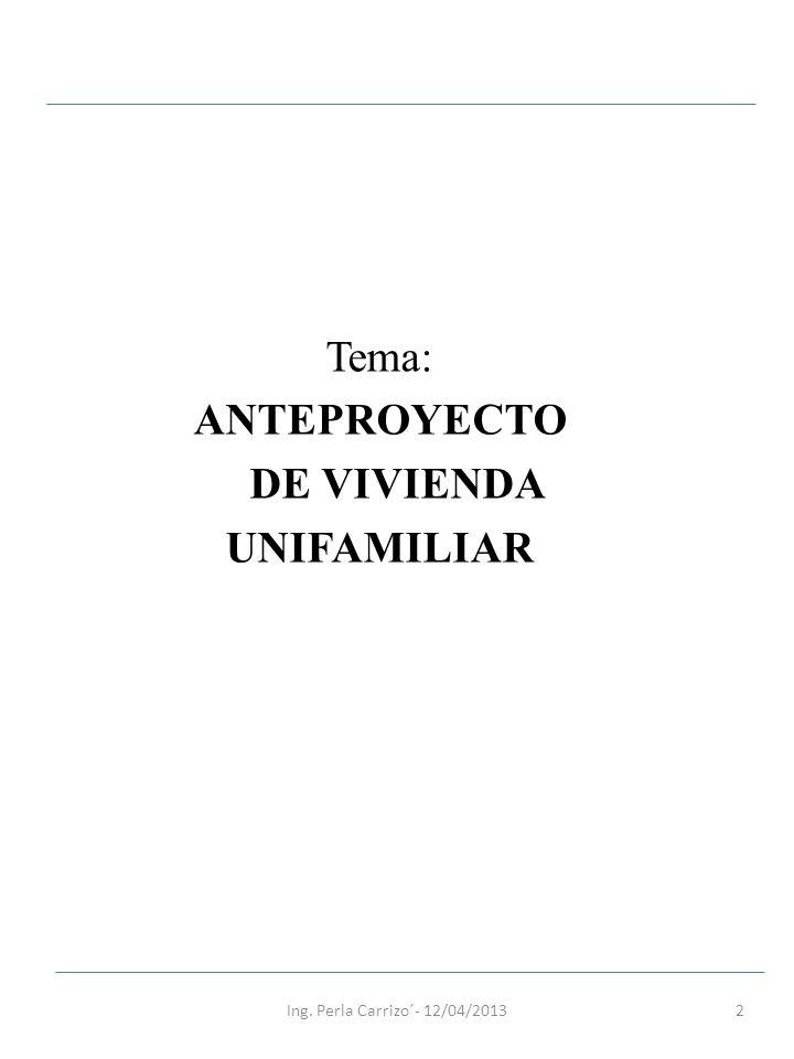ANTEPROYECTO DE VIVIENDA UNIFAMILIAR