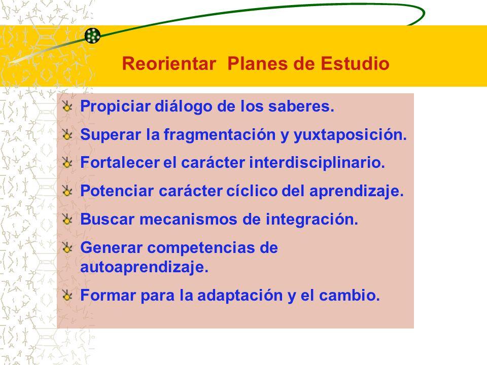 Reorientar Planes de Estudio
