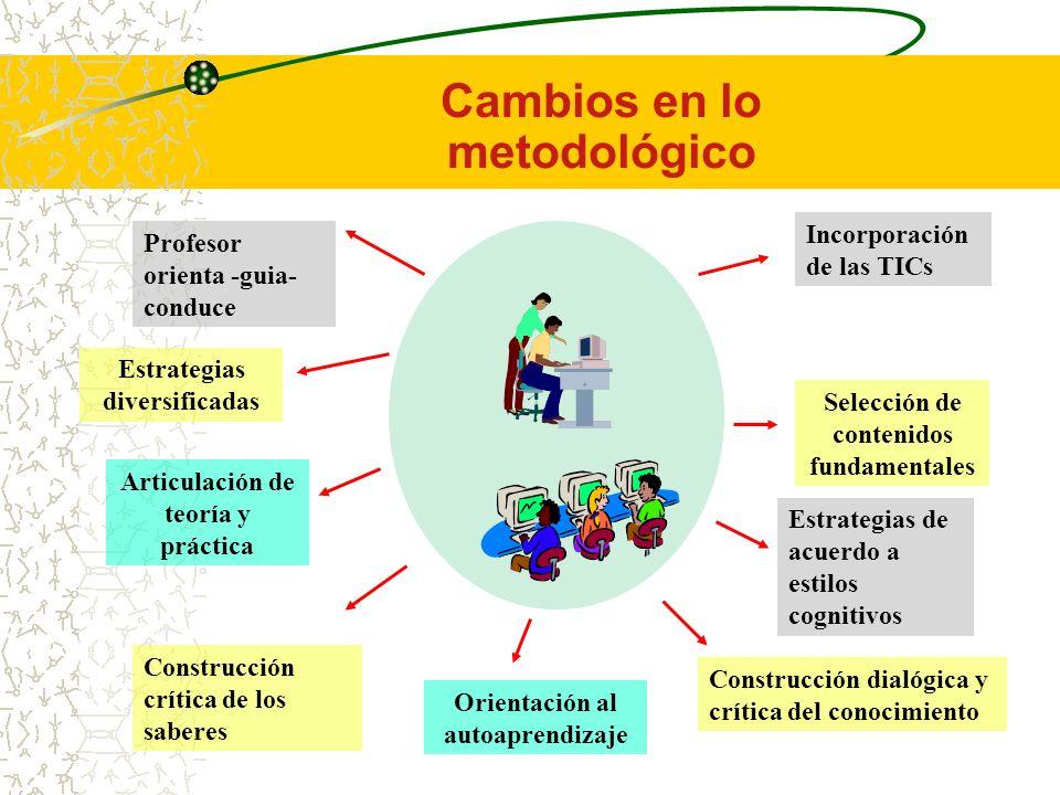 Cambios en lo metodológico
