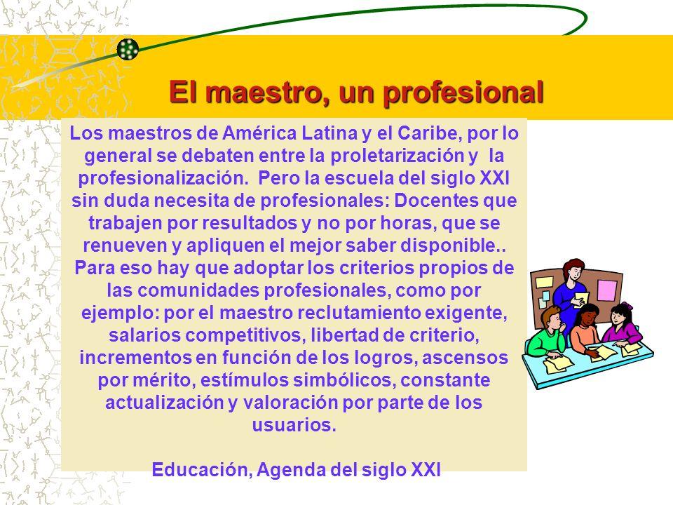 El maestro, un profesional