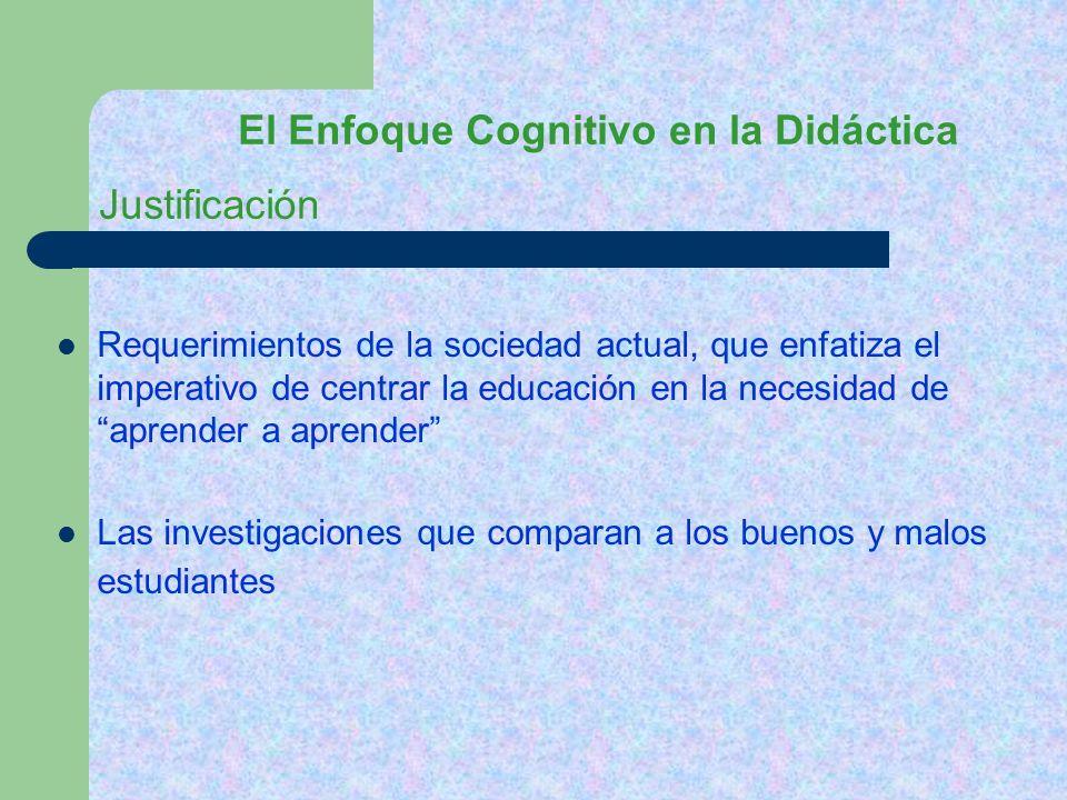 El Enfoque Cognitivo en la Didáctica