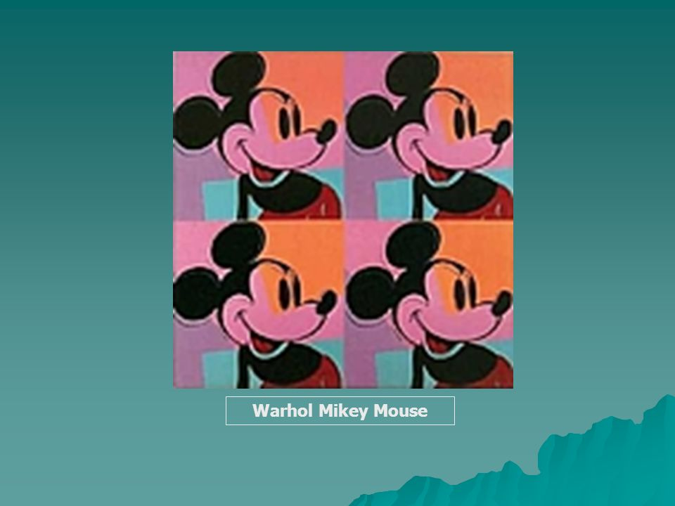 Warhol Mikey Mouse