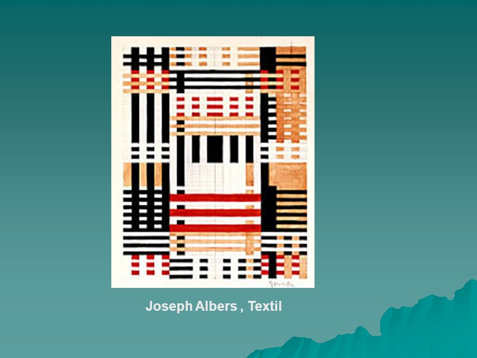 Joseph Albers , Textil