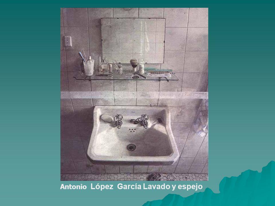 Antonio López García Lavado y espejo