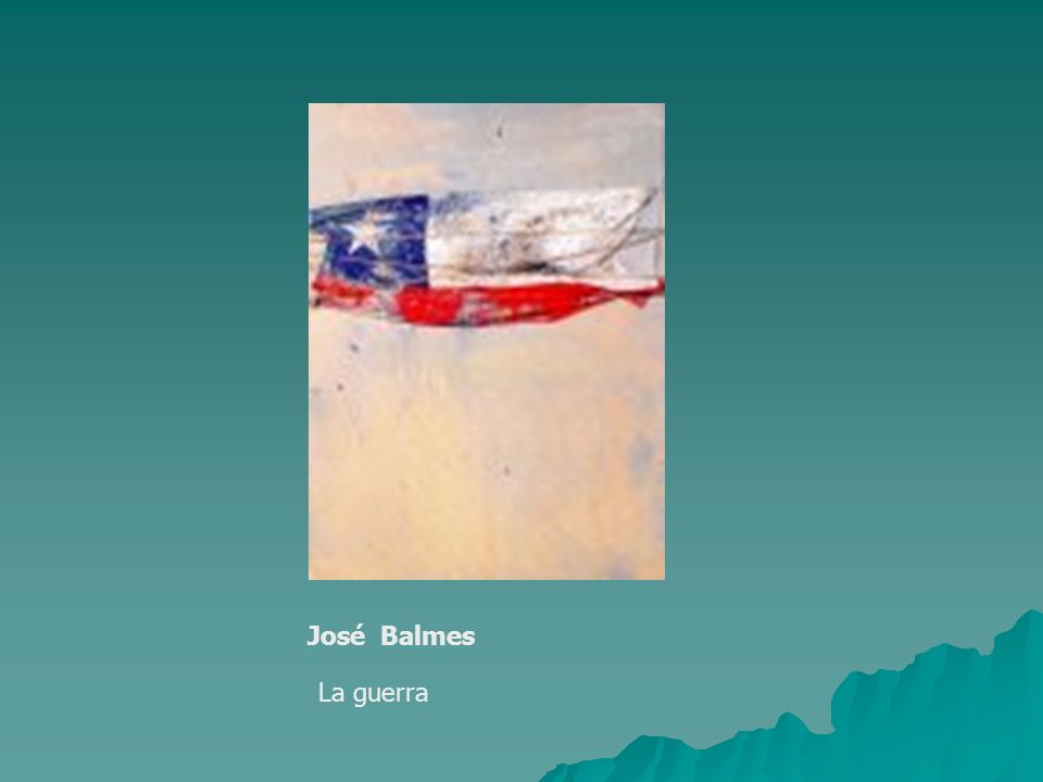 José Balmes La guerra