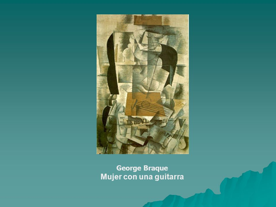 George Braque Mujer con una guitarra