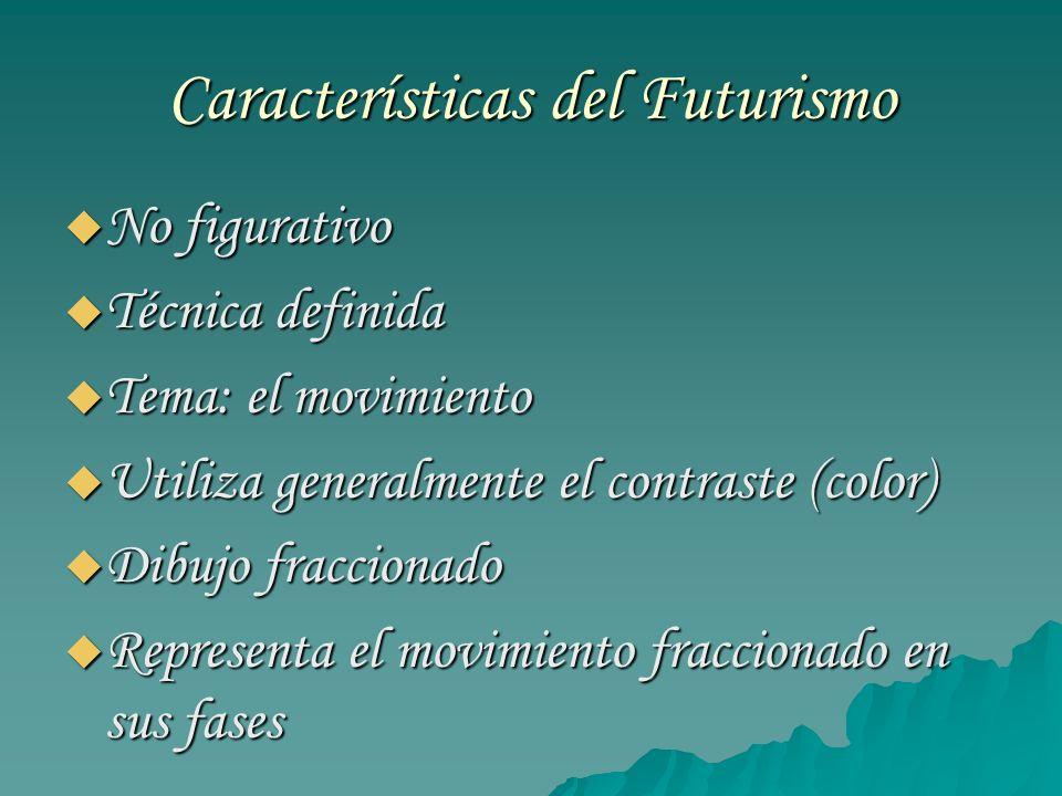 Características del Futurismo