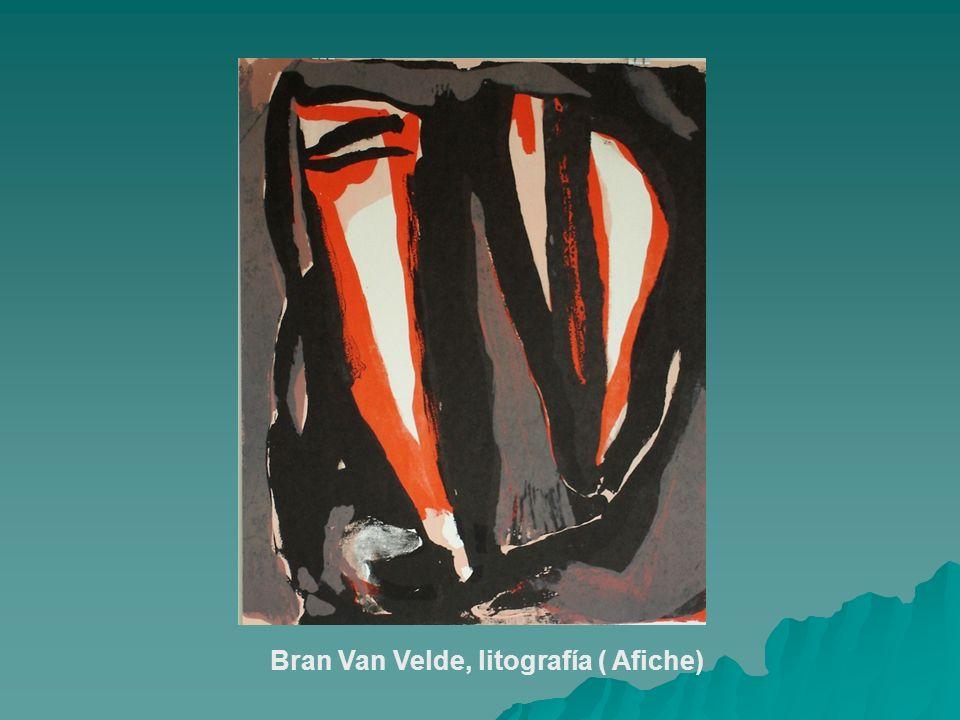 Bran Van Velde, litografía ( Afiche)