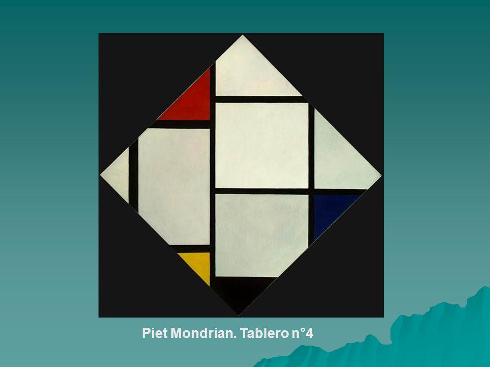 Piet Mondrian. Tablero n°4
