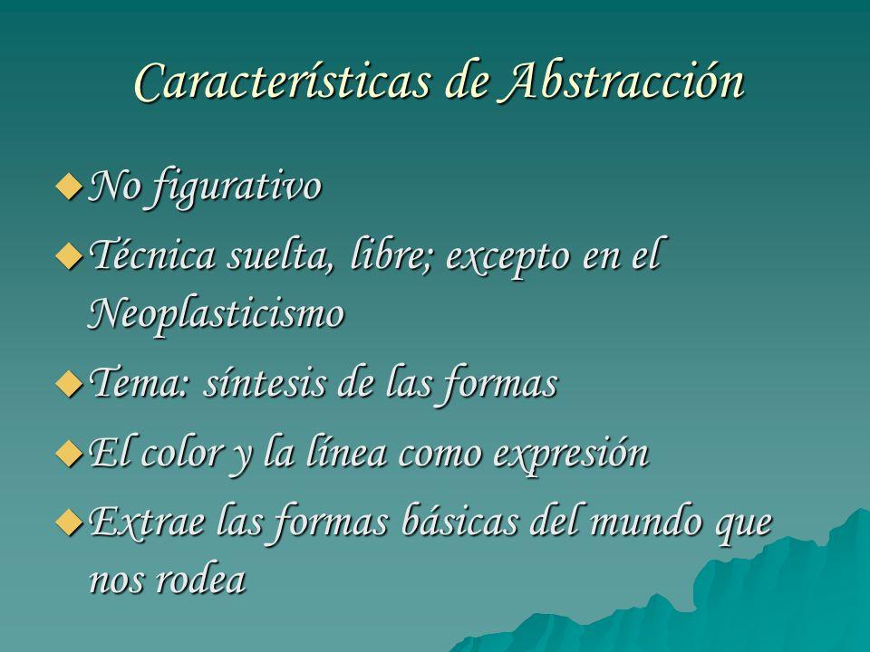 Características de Abstracción