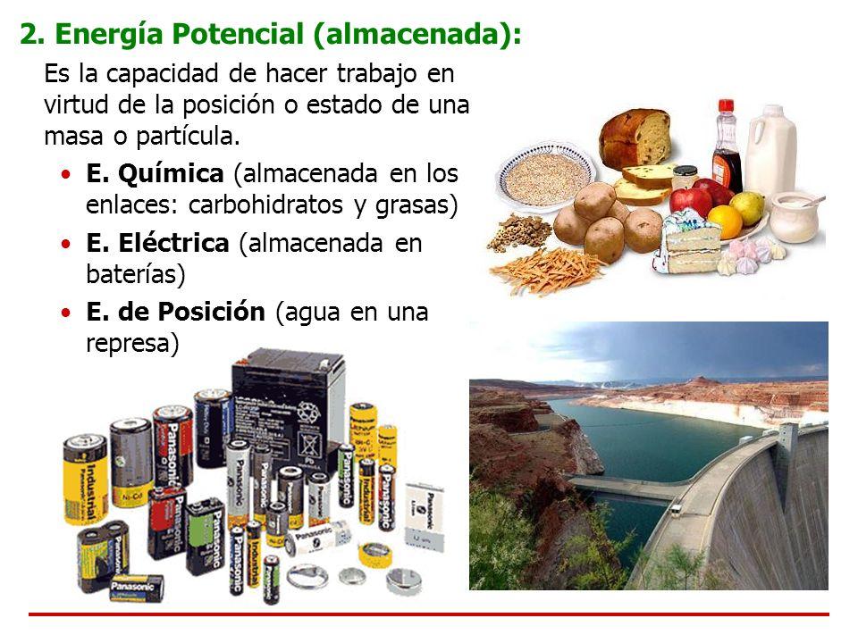2. Energía Potencial (almacenada):