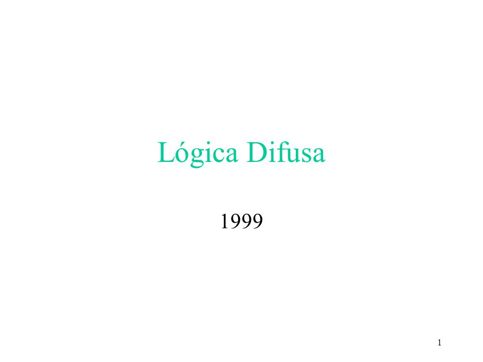 Lógica Difusa 1999