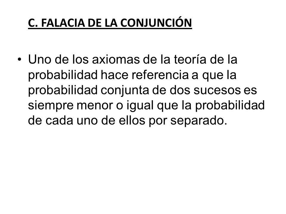 C. FALACIA DE LA CONJUNCIÓN