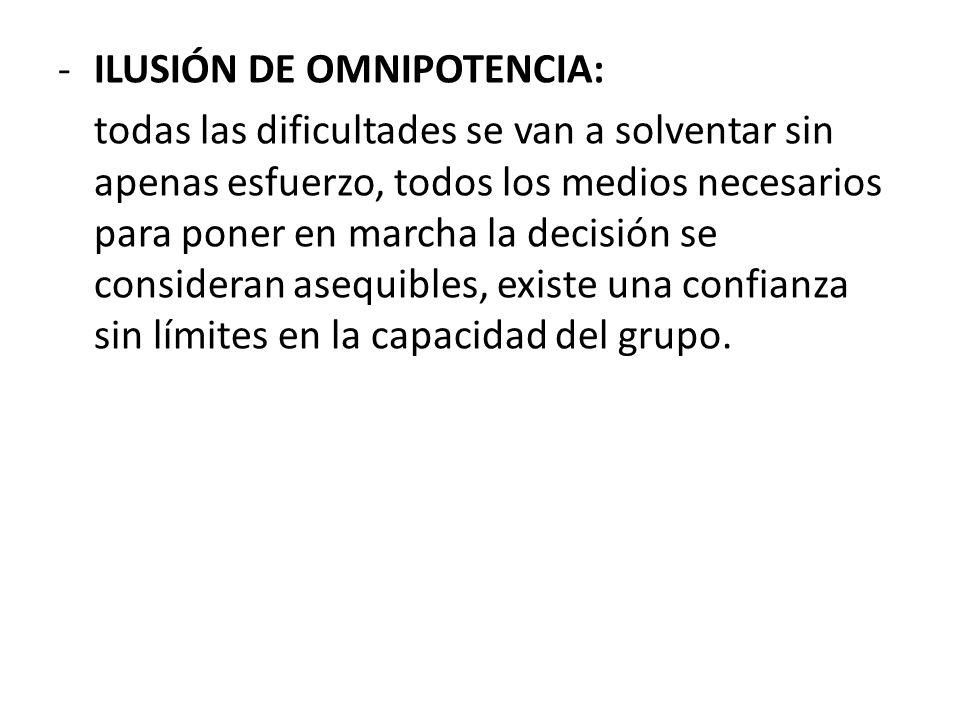 ILUSIÓN DE OMNIPOTENCIA: