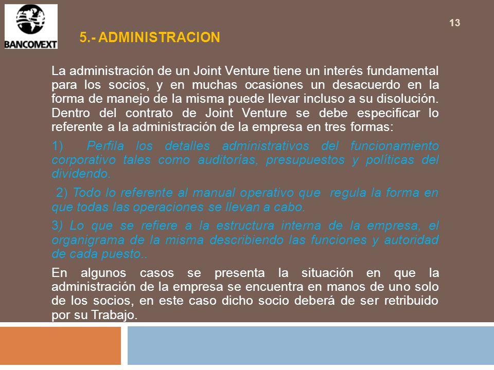5.- ADMINISTRACION