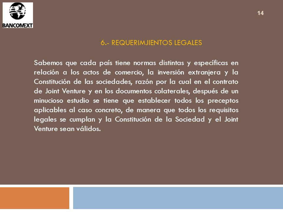 6.- REQUERIMJIENTOS LEGALES