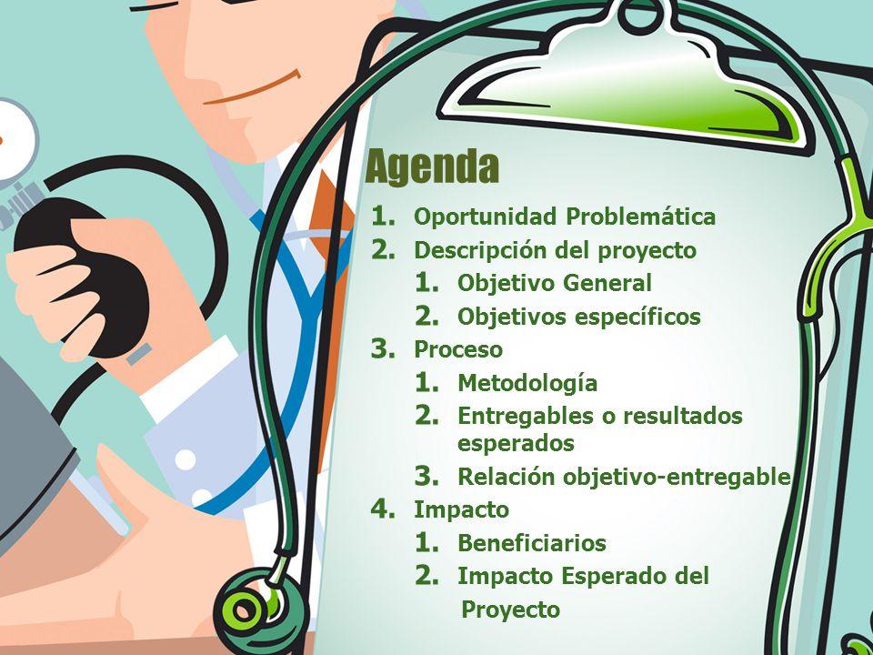 Agenda Oportunidad Problemática Descripción del proyecto