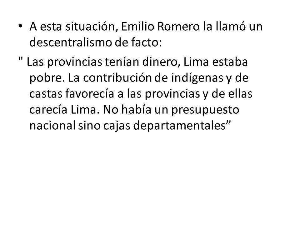 A esta situación, Emilio Romero la llamó un descentralismo de facto: