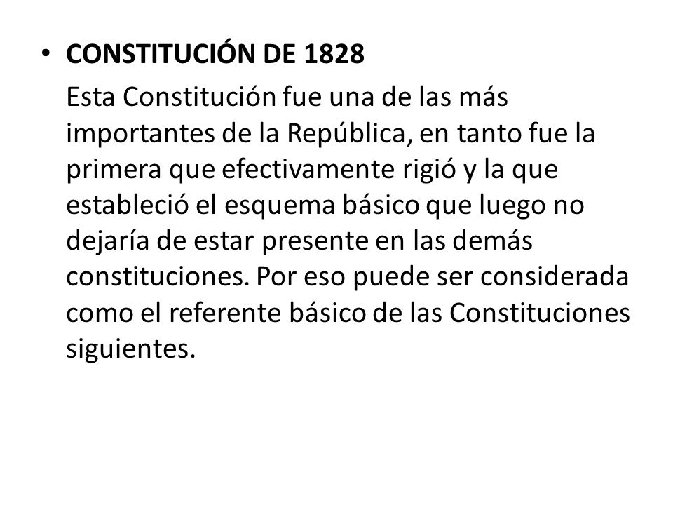 CONSTITUCIÓN DE 1828