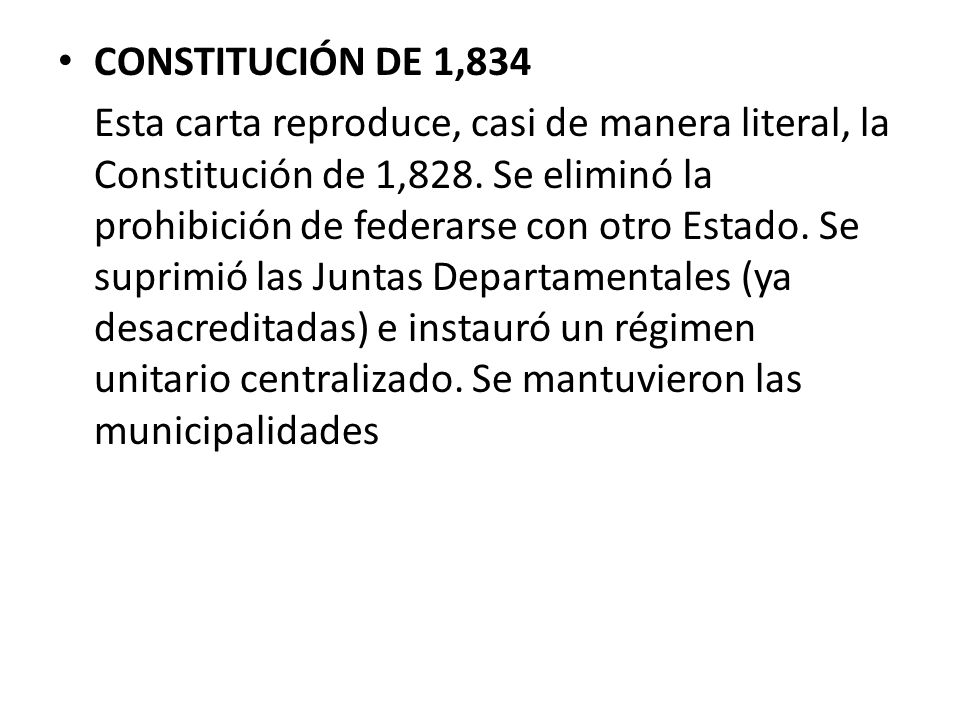 CONSTITUCIÓN DE 1,834