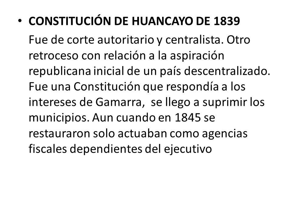 CONSTITUCIÓN DE HUANCAYO DE 1839