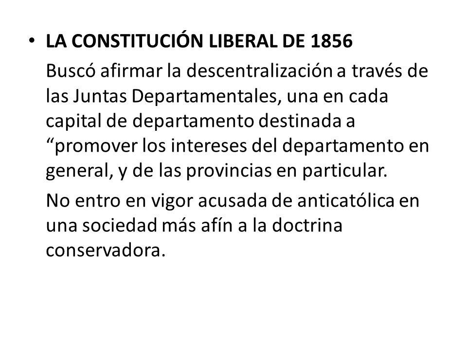 LA CONSTITUCIÓN LIBERAL DE 1856