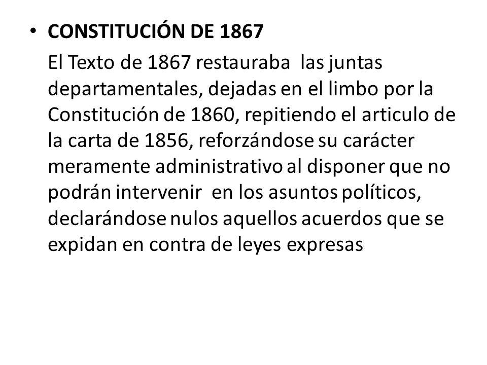 CONSTITUCIÓN DE 1867