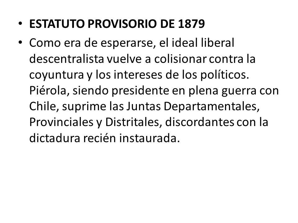 ESTATUTO PROVISORIO DE 1879