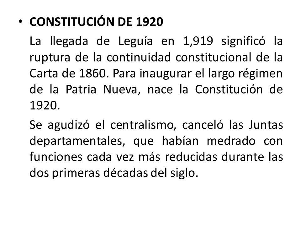 CONSTITUCIÓN DE 1920