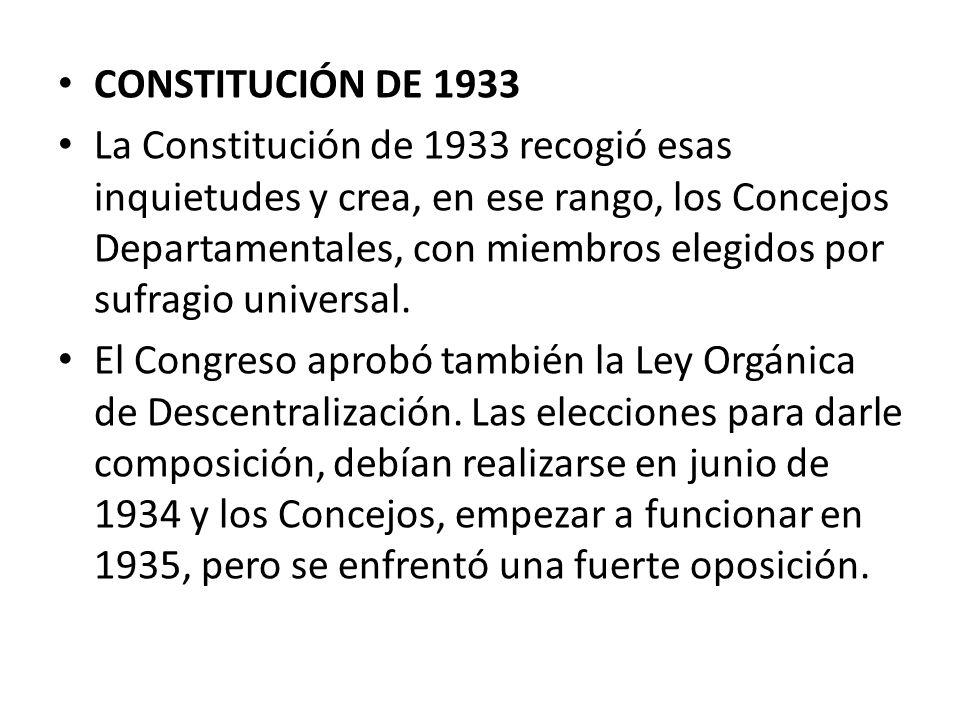 CONSTITUCIÓN DE 1933