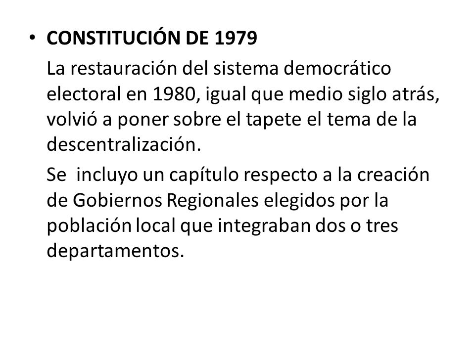 CONSTITUCIÓN DE 1979