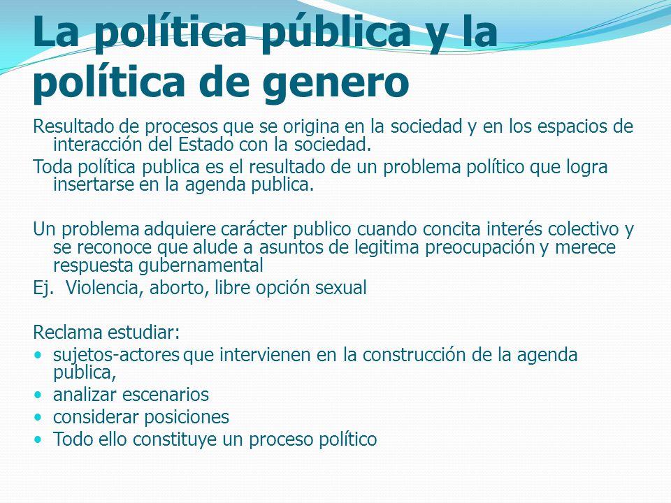 La política pública y la política de genero