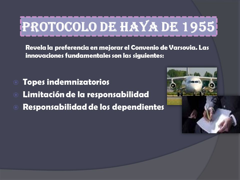 Protocolo de Haya de 1955 Topes indemnizatorios