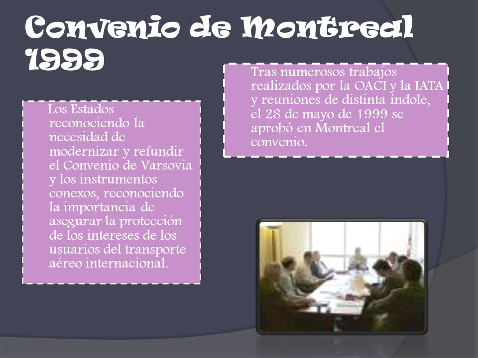 Convenio de Montreal 1999
