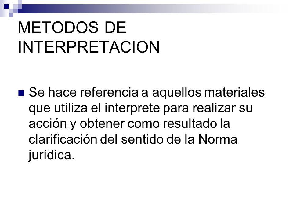 METODOS DE INTERPRETACION